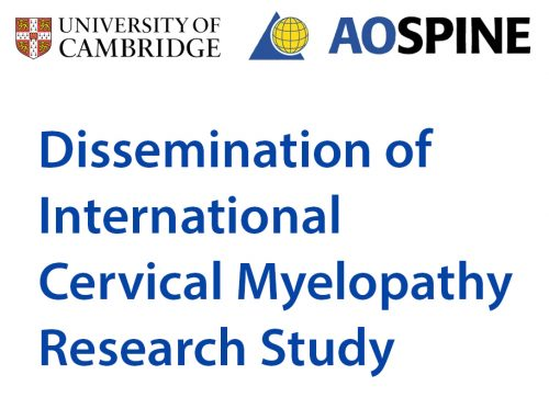 Dissemination of International Cervical Myelopathy Research Study