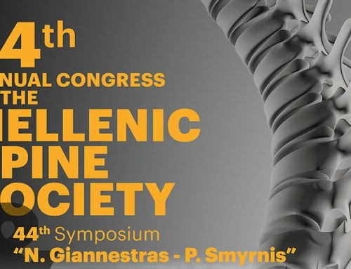 "14th Annual Congress of the Hellenic Spine Society and 44th Symposium ""N. Giannestras – P. Smyrnis"""