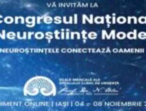 Congresul Național de Neuroștiințe Moderne – 04-08 Noiembrie 2020